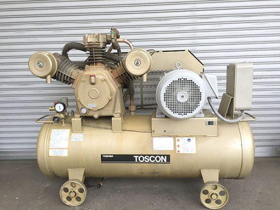 中古 15馬力タンクマウント型コンプレッサー 買取いたしました!東芝 SP106-110T10です!