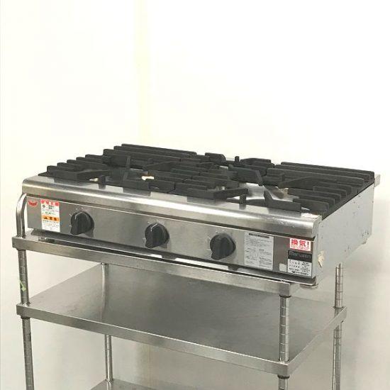 中古厨房機器入荷しました!3口ガスコンロです!!