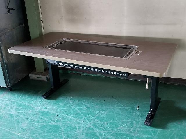 カジワラキッチンサプライ ガス式お好み焼きテーブル プロパンガス W1800×D840×H700