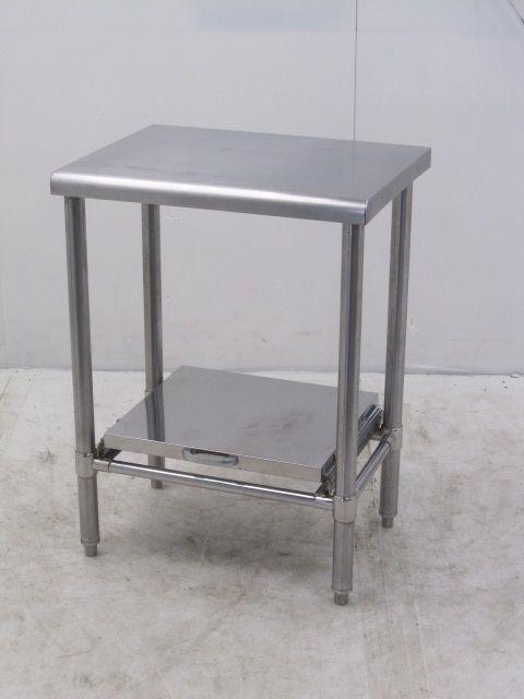 業務用 ステンレス炊飯台付き調理台 W590×D450×H800mm買取しました!