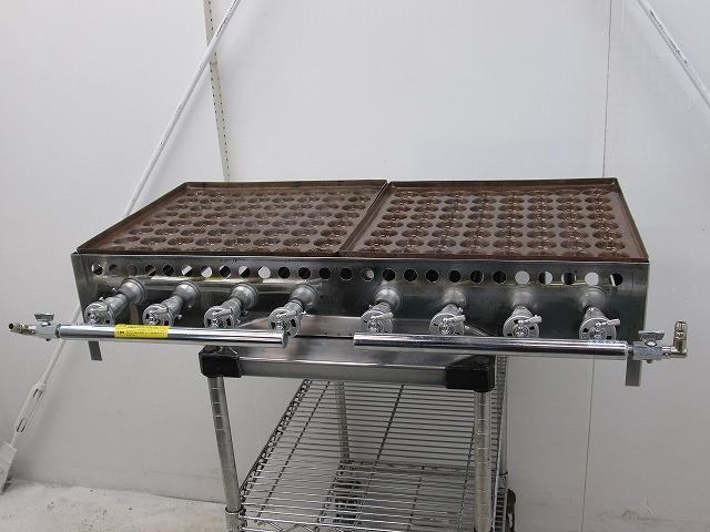 たこ焼き器 W1005×D610×H210mm 都市ガス 128個タイプ 大玉用買取しました!