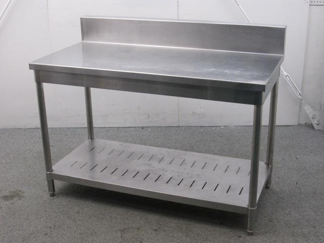タニコー 業務用 ステンレス調理台 バックガードあり W1200×D600×H780mm