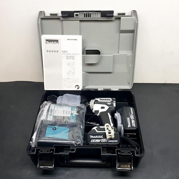 マキタ makita 18V充電式インパクトドライバ 6.0Ah ホワイト TD171DRGXW