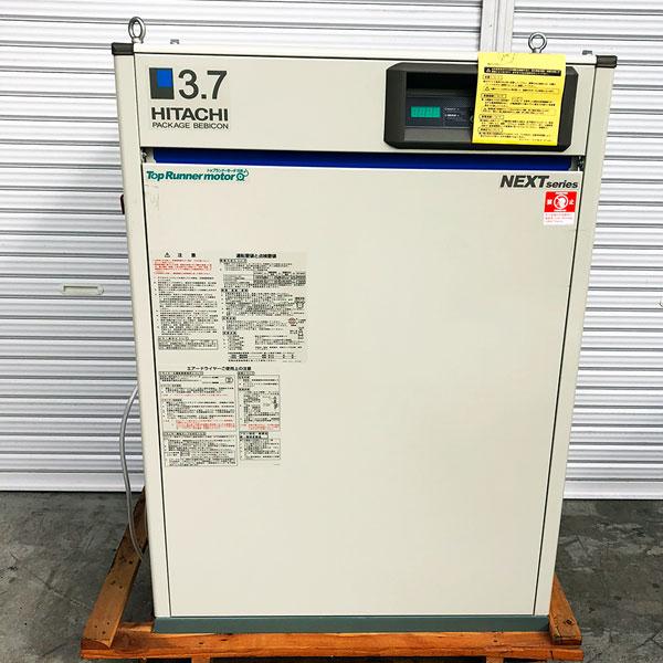 日立 HITACHI  5馬力パッケージコンプレッサー ドライヤ搭載型 440V 60Hz PBD-3.7MNP6