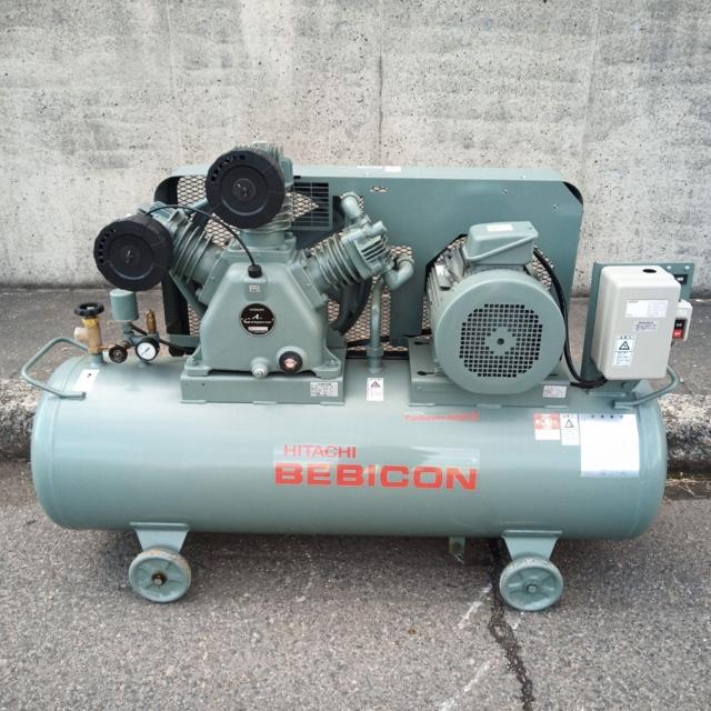 日立 HITACHI 10馬力 7.5kW給油式レシプロコンプレッサー 3相200V60Hz買取しました!