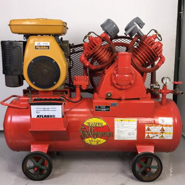 富士コンプレッサ 5馬力中圧エンジンコンプレッサー セルスタート買取しました!
