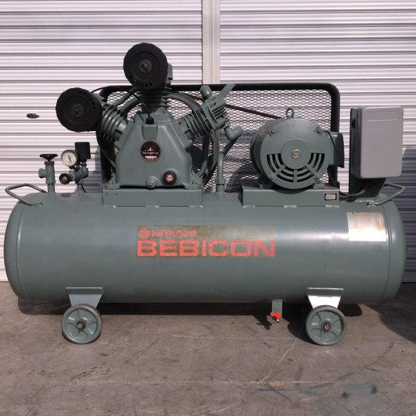 日立 HITACHI 10馬力給油式レシプロコンプレッサー BEBICON 7.5P-9.5V6