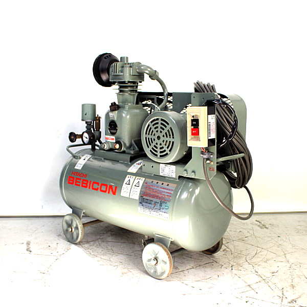 HITACHI/日立産機  0.75kW 1馬力 給油式レシプロコンプレッサー BEBICON/ベビコン 1馬力買取しました!
