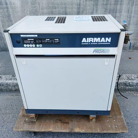 北越工業 AIRMAN エアマン  7.5馬力 5.5kW 油冷式スクリューコンプレッサー 買取しました!