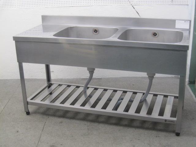 調理台付き2槽シンク (1183)