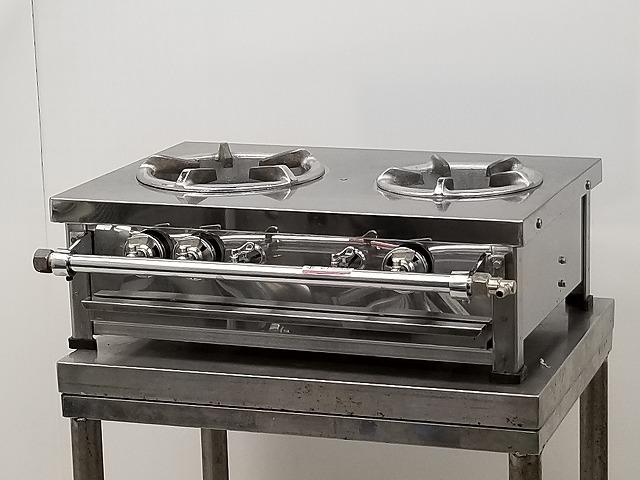 卓上2口ガスコンロ プロパンガス W625×D490×H200買取しました!