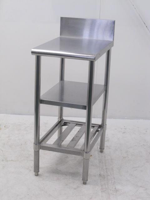 業務用 ステンレス中段付き調理台 W410×D600×H890mm買取しました!