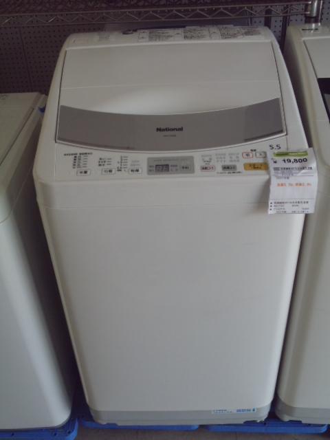 ナショナル乾燥機能付5.5k全自動洗濯機NA-FV550-名古屋の家電 ...