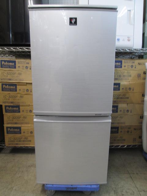 シャープ 2ドア冷凍冷蔵庫 SJ-PD14W-S
