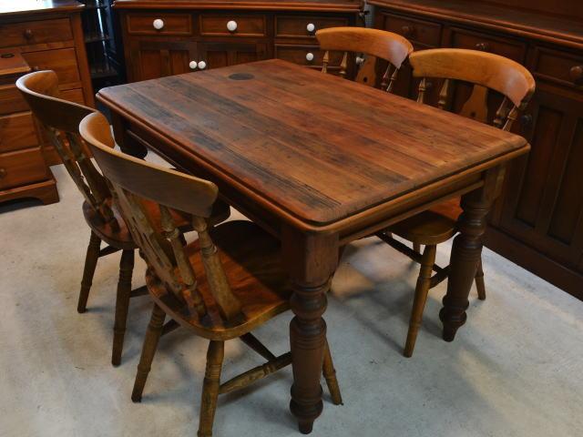 パイン材 ダイニングテーブルセットid131128110022002 中古家具