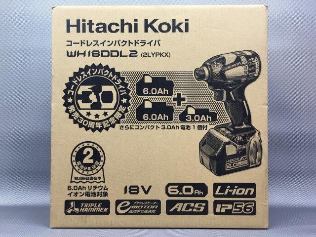 日立 HITACHI  【発売30周年限定セット】充電式インパクトドライバ 18V 6.0Ah×2個+3.0Ah WH18DDL2(2LYPKX)