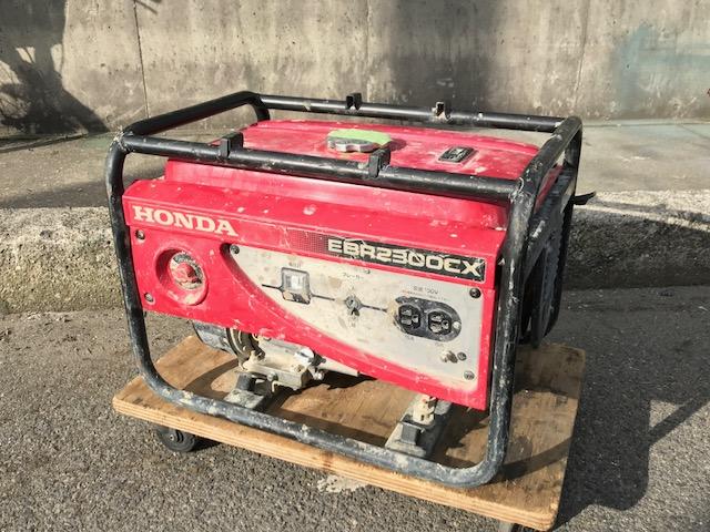 HONDA ガソリンエンジン発電機 2.3KVA 60Hz買取しました!