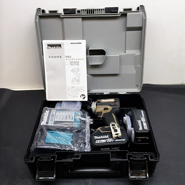 マキタ makita 18V充電式インパクトドライバ 6.0Ah 最新型 オーセンティックブラウン買取しました!