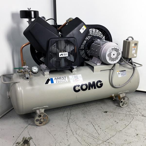 アネスト岩田 5馬力レシプロコンプレッサー COMG買取しました!