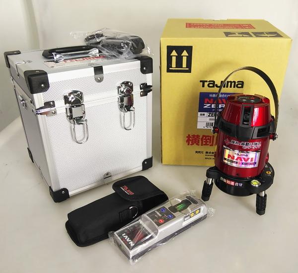 タジマ TAJIMA  レーザー墨出し器 受光器付き 縦、横、大矩、ポイント買取しました!