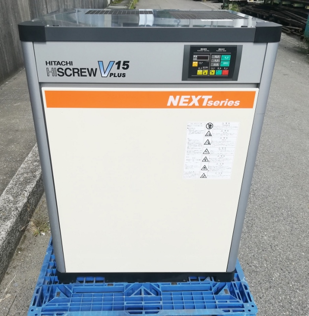 日立 20馬力/15kW  給油式スクリューコンプレッサー 3相200V買取しました!