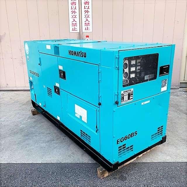 小松 KOMATSU  60KVAディーゼルエンジン発電機買取しました!