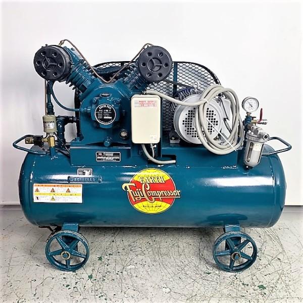 富士コンプレッサー FUJI  5馬力給油式レシプロコンプレッサー買取しました!
