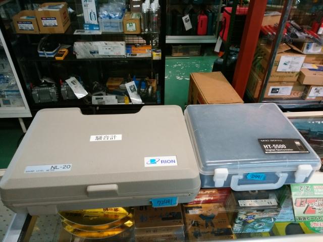 小野精機 リオン  測定器一式 デジタルタコメーター 騒音計  HT-5500 NL-20