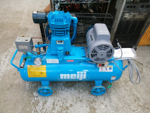 meiji/明治機械 100V 1馬力/0.75kW 給油式レシプロコンプレッサー GH-08D