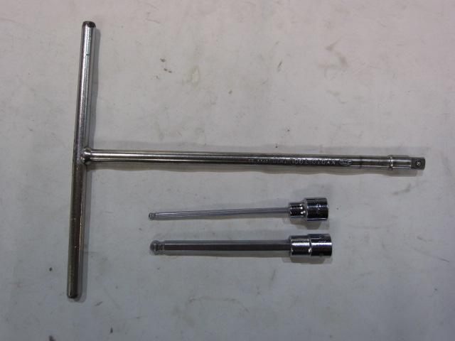 KTC レンチ工具3点まとめセット Tハンドル & ロングボールヘックスソケット TH20・  F8(8mm)・C7(4mm)