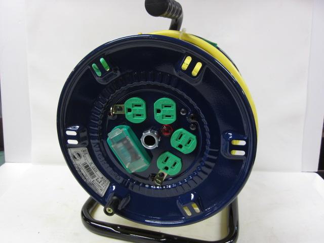 日動 Lヘナポッキン 漏電保護専用 電工ドラム コードリール PL-EB34