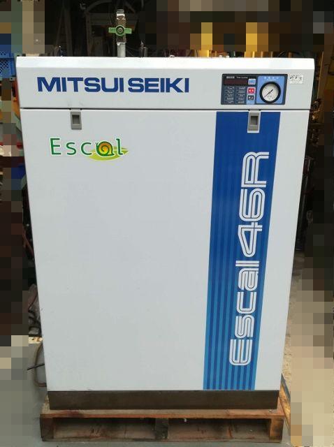 三井精機 MITSUI SEIKI 5馬力給油式スクロールコンプレッサー ドライヤー付 3相200V 60Hz ESCAL46R