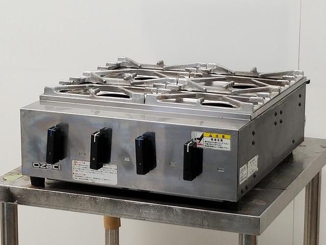 オザキ オザキ 業務用卓上4口ガスコンロ OZK4�V 都市ガス 2012年製 OZK4�V