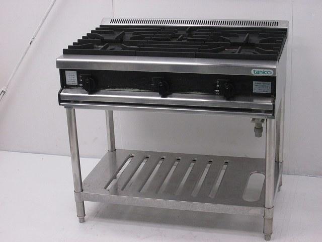 タニコー タニコー 3口ガステーブル T0921 プロパンガス 2006年製 T0921