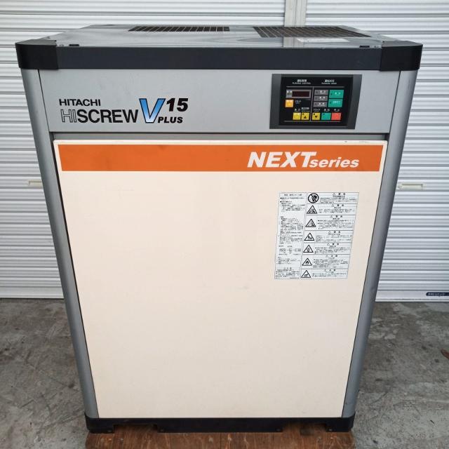 日立 HITACHI 20馬力/15kW 給油式スクリューコンプレッサー インバータ機 3相200V OSP-15VARN