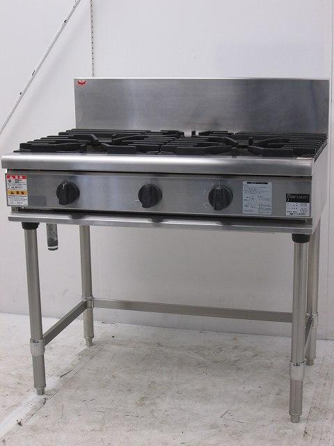 マルゼン マルゼン 3口ガステーブル RGT-0963B プロパンガス 2013年製 RGT-0963B