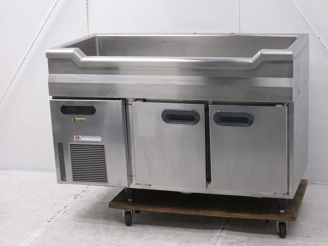 フクシマガリレイ フクシマガリレイ 舟形シンク付冷蔵コールドテーブル RNC-40RM7-SC 2005年製 RNC-40RM7-SC