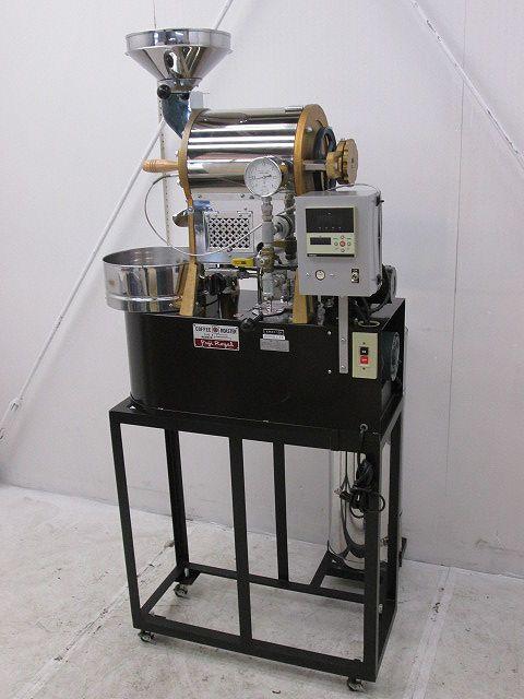 (株)富士珈琲 (株)富士珈琲 フジローヤルロースター 焙煎機 R-101 2011年製 都市ガス 専用架台付 R-101