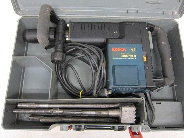 BOSCH ボッシュ 電子破つりハンマー GSH10C SDS-MAX シャンク多数付属 動作確認済み買取しました!