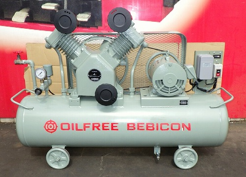 [人気のオイルフリー] 5馬力 エアーコンプレッサー/ベビコン/コンプレッサー 日立 3.7OP-8.5C 50Hz タンク125L買取しました!