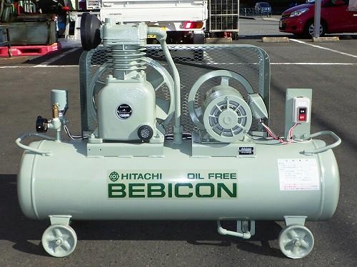 [整備済/大人気オイルフリー] 2馬力 エアーコンプレッサー/ベビコン/コンプレッサー 日立 1.5OP-8.5T 50Hz タンク70L [三相200V]買取しました!