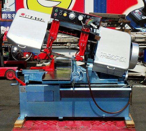 [名機/セミオート] アマダ バンドソー/ロータリーバンドソー/帯鋸盤 能力φ250mm [動作良好] AMADA H-250SA 50Hz [ローラーテーブル付属]買取しました!