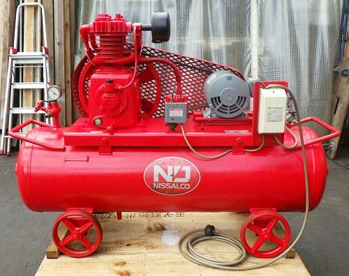 [希少1.4MPa/3馬力] 中圧エアーコンプレッサー ニッサルコ/富士 CM-7060/W-33 タンク155L[200V/Hz共用]買取しました!