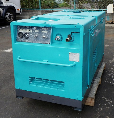 [人気ディーゼル/21馬力] エアマンコンプレッサー/エンジンコンプレッサー/コンプレッサー 北越 PDS70S/PDS-70S はつり/掘削/削岩/ブラスト買取しました!