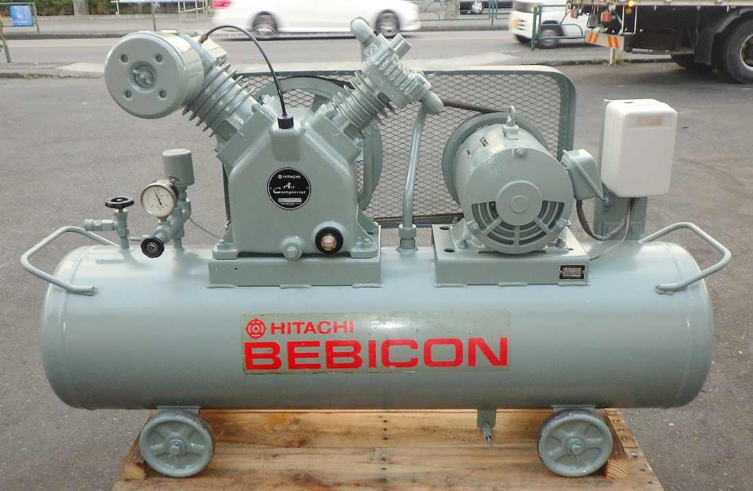 [人気の0.95MPa/5馬力] エアーコンプレッサー/ベビコン/コンプレッサー 日立 3.7P-9.5T 50Hz タンク125L [三相200V/給油型]買取しました!