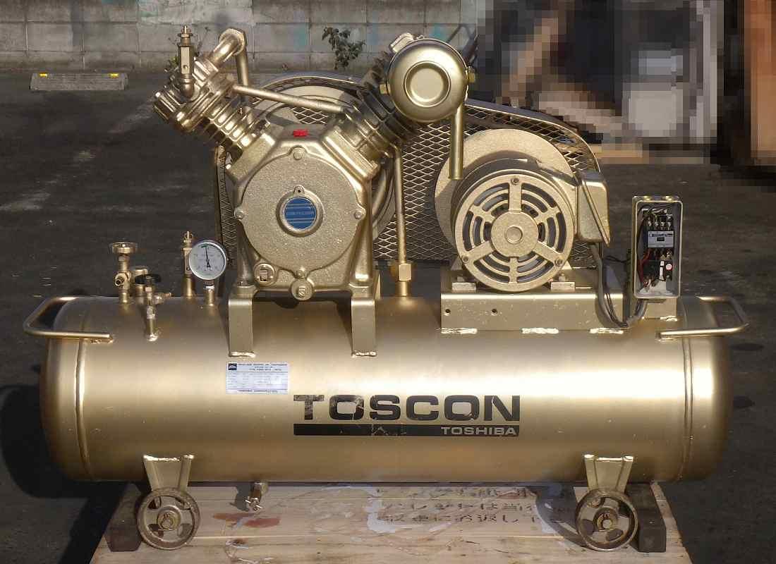 [人気の0.99MPa/3馬力] エアーコンプレッサー/コンプレッサー/ベビコン 東芝 SP105-22T2 50Hz タンク80L [三相200V/給油型]買取しました!