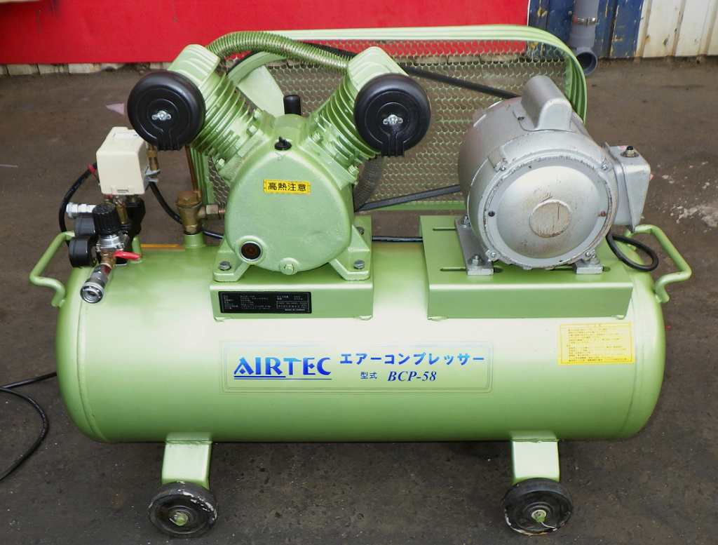 [人気の100V] エアーコンプレッサー/コンプレッサー/ベビコン ナカトミ/AIRTEC BCP-58 50/60Hz タンク58L [給油型]買取しました!