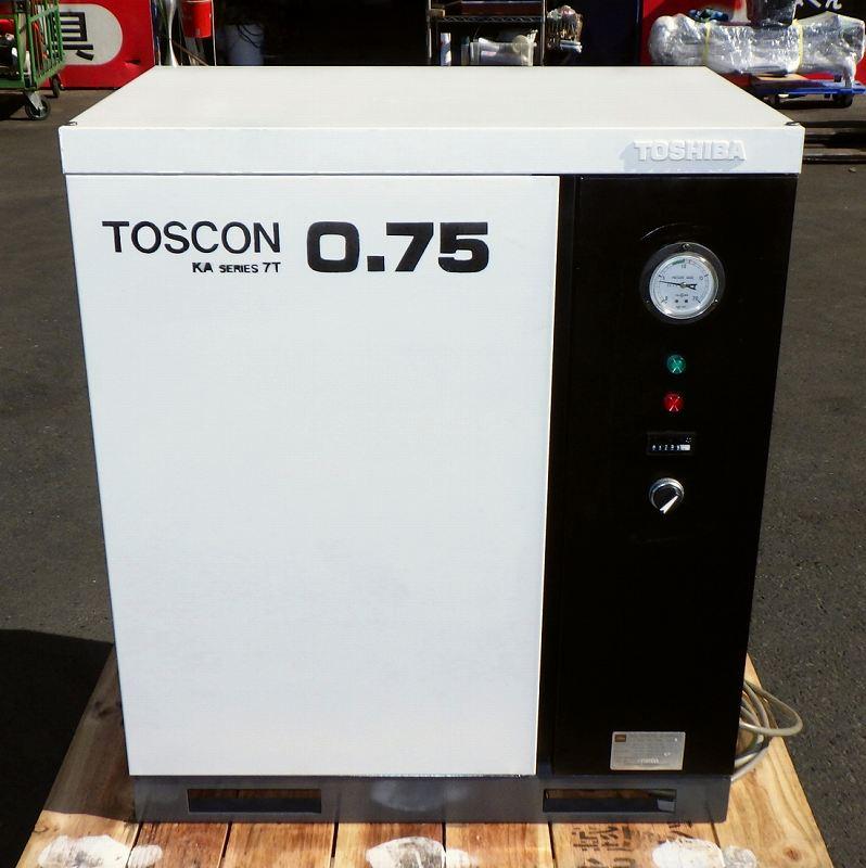 [200V] 1馬力 パッケージコンプレッサー/コンプレッサー 東芝/TOSCON KA105-7T 静音/稼働少なめ/50Hz [給油型]買取しました!
