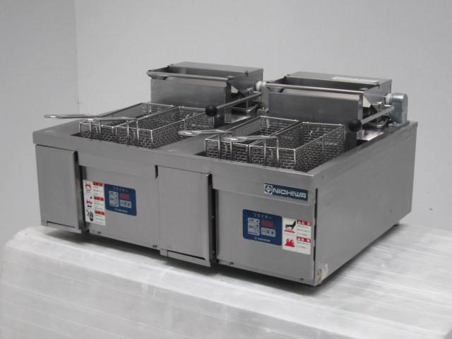 ●ニチワ電機 業務用2槽式卓上電気フライヤー買取しました!