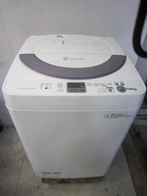 シャープ5.5kg全自動洗濯機ES-GE55N-S